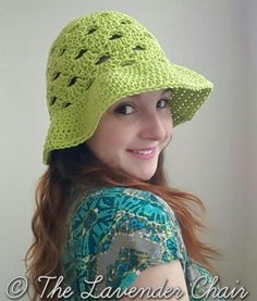 Stacked Shells Floppy Sun Hat - free crochet pattern - The Lavender Chair