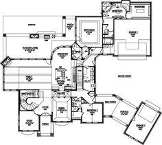 Level Drive thru Portico Garage   HoUSe PlAnS      Pinterest    portico home plans   Google Search  Main Floor Plan