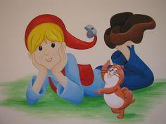 Nils Holgersson ζωγραφική σε παιδικό δωμάτιο_Dream-Art