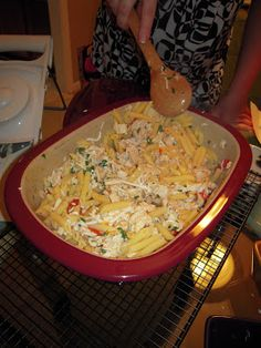 Pampered Chef - Grilled Chicken Penne al Fresco & Three Cheese Garden Pizza | Plain Chicken