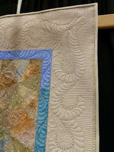 """""""Sea Glass"""" by Margaret Solomon Gunn, Gorham. Beautiful machine quilting. She took Best of Judged on her other quilt in this show!"""