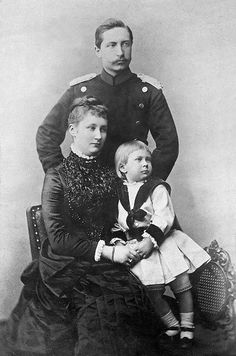 Wilhelm II with first wife Augusta Victoria and son Wilhelm