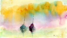 OUT OF THE GLOOM Watercolour by Paul Taylor