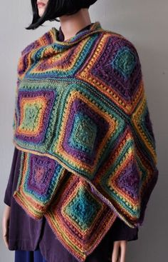 Mochi Plus Mitered Square Stole from Crystal Palace Yarns