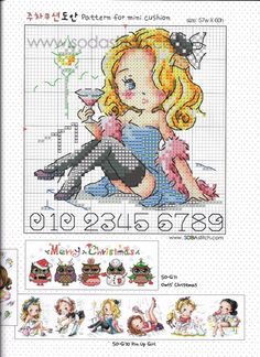 Baby Cross Stitch Patterns, Cute Cross Stitch, Cross Stitch Charts, Stitch Character, Stitch Doll, Cross Stitch Magazines, Cross Stitch Collection, Plastic Canvas Patterns, Le Point