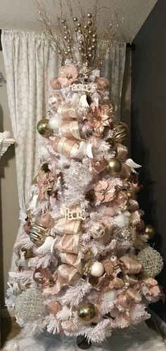 My Rose gold Christmas tree!