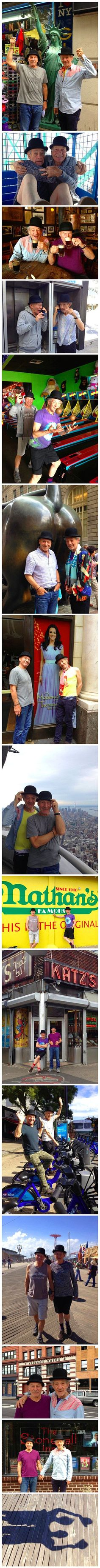 In honor of their final performances on Broadway in No Man's Land and Waiting for Godot, co-stars and best friends Sir Ian McKellen and Sir Patrick Stewart recently decided to say goodbye to New York City by releasing some funny outtakes from their adventu