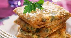 Bricks à l'œufVoir la recette >> Taco Wraps, Vegetarian Enchiladas, Salty Foods, Quiche Lorraine, Healthy Options, Salmon Burgers, Entrees, Tasty, Snacks