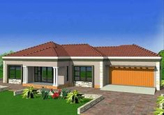 Second option dream house Round House Plans, Tuscan House Plans, Free House Plans, House Plans With Photos, Best House Plans, House Roof Design, House Outside Design, Flat Roof House, Bungalow House Design