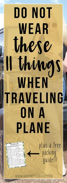 Never wear these 11 things on a plane if you are searching for ultimate travel comfort! #Traveling, #travel outfit, #traveltips, travel hacks, plane outfit, plane hacks, plane tips, what to wear on a plane