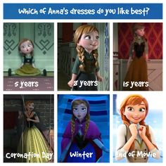 Which of Anna's dresses are YOUR favorite? Vote by commenting below! I like winter