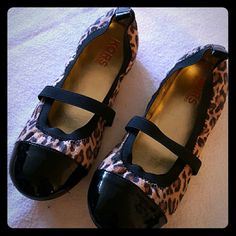 MICHAEL KORS, shoes, NEW! !Jrs. Animal Print Patent Toe Flat, juniors!! Michael Kors Shoes Flats & Loafers