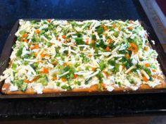 Cold veggie pizza!