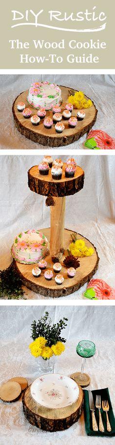 diy Rustic Cupcake Wedding Cake Platter