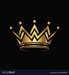 Golden crown logo abstract design vector image on VectorStock Birthday Background Images, Banner Background Images, Studio Background Images, Logo D'art, Art Logo, Crown Tattoo Design, King Crown Tattoo, Crown Drawing, Queens Wallpaper