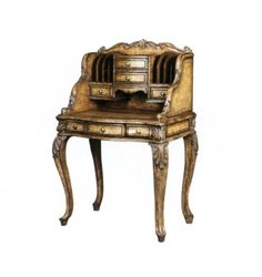 Antique Secretary Writing Desk | ... shape Francesca secretary desk-Antique Writing Desks-Antique Furniture