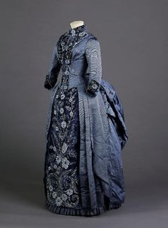 fripperiesandfobs:  Blanche Boucher day dress, 1880's