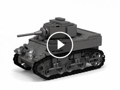 How to bulid Lego WWII Stuart tank - Would you like to have your own World War 2 Stuart tank? Got some Lego? Here is a great tutorial on how to produce your very own Stuart. Lego Technic, Lego Duplo, Lego Ww2 Tanks, Lego Hospital, Lego Custom Minifigures, Lego Army, Lego Boards, Lego Ship, Combat Gear