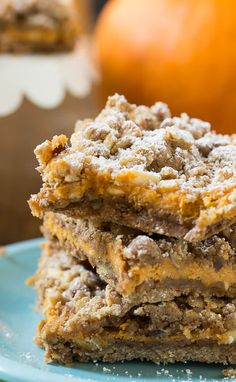 Pumpkin Spice Bars - taste a lot like pumpkin pie in an easy to make and eat bar form.