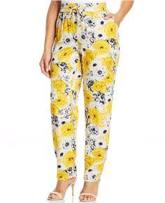 Style&co. Plus Size Floral-Print Soft Pants