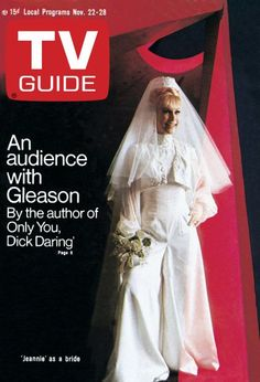 "TV Guide: November 22, 1969 - Barbara Eden as a bride in ""I Dream of Jeannie"" The show kind of turned when they got married"