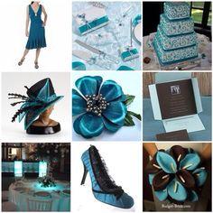 22 best Weddings: Teal & Brown images on Pinterest | Wedding stuff ...