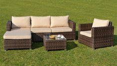 Maron sedacia súprava hnedá pravá Outdoor Sectional, Sectional Sofa, Outdoor Furniture Sets, Outdoor Decor, Brown, Home Decor, Modular Couch, Decoration Home, Room Decor