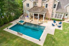 Backyard Pool Landscaping, Backyard Pool Designs, Small Backyard Pools, Swimming Pools Backyard, Swimming Pool Designs, Outdoor Pool, Backyard Ideas, Lap Pools, Pool Ideas