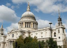 St Paul's Cathedral, London, England. Designed by 17th century architecture, Sir Christopher Wren.