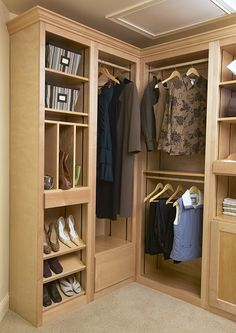All the Right Spaces Gallery - More than you Expected for Less than you Thought - View Photos of Solid Wood Modular Closet and Pantry Inserts Pallet Wardrobe, Modular Closets, Space Gallery, Closet Ideas, Home Organization, Solid Wood, Natural, House, Home Decor