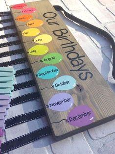 decor under easy diy Birthday chart balloons - class birthdays - classroom decor - rainbow classroom - colorful classroom - kindergarten class - teacher gift Diagramm Ballons Geburtstage Klassenzimmer Dekor