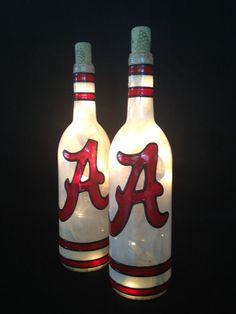 Alabama Wine Bottle Lamp by BottleOfLights on Etsy