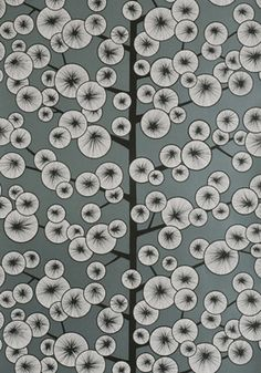 Cotton Tree Gunmetal Wallpaper -- more from the Miss Print website - love this one