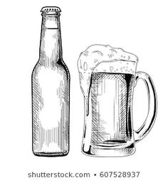 Find pencil drawing stock images in HD and millions of other royalty-free stock photos, illustrations and vectors in the Shutterstock collection. Pencil Drawing Images, Drawing Art, Engraving Illustration, Architecture, Glass Bottles, Beer Bottle, How To Draw Hands, Royalty Free Stock Photos, Mugs