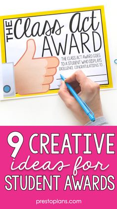 Want to celebrate your students, grades aside? Here are 9 creative ideas for student awards to bring to your classroom at the end of the year. #studentawards #endoftheschoolyear Teacher Awards, Student Awards, English Teaching Resources, Middle School Ela, High School English, English Classroom, Teaching Language Arts, Student Success, Student Teaching
