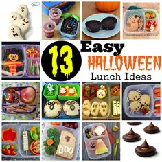 These 13 Easy Halloween Lunch Ideas are great for making your kids feel special…