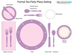 Not like i have have cared how to set a table but informative lol