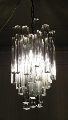 Venini Murano Glass Chandelier Retro Design 1960's 1970's Ceiling Light | eBay
