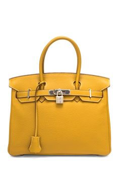 Vintage Hermes Leather Birkin 30 Handbag