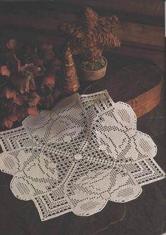 Square Crochet Doily 18 inches, Crochet Tablecenter, Crochet Tabletopper, Made to Order