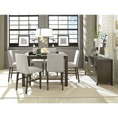 Counter height dining set, glass top, wood frame
