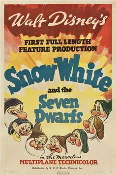 vintage disney  | Filmic Light - Snow White Archive: Snow White Movie Posters - Complete ...