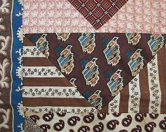 ANTIQUE-EARLY-19TH-C-TRIANGLE-STRIPPIE-QUILT-TOP-WITH-CIRCA-1830-1860-FABRICS