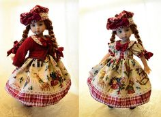"""SOLD """"Christmas of Yesteryear""""Dress,Clothes for 13""""Effner Little Darling-Lumi"""