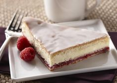 I found this recipe for Raspberry Cream Cheese Coffee Cake, on Breadworld.com. You've got to check it out!