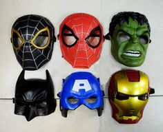 My mask, in my store :) Good toys for birthday, costume, halloween party, very light, and have a belt to fix, have holes for eyes. Now I have a two spider man(red one and black one), one hulk, one batman, two capital american(one is letter A, another is shaped like human face), one iron man, one thor. http://www.aliexpress.com/store/product/Party-wholesale-Ball-Batman-Spider-Man-Hulk-Iron-Man-Capital-America-Toy-Super-Hero-mask-blindages/636516_1358326860.html