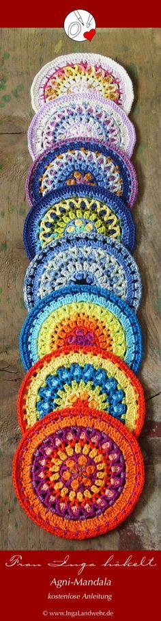 Mandalas häkeln ist wie Meditation - kostenlose Anleitung für Agni-Mandala - free pattern