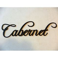 Amazon.com: Cabernet Word Metal Wall Art Kitchen Home Decor: Home & Kitchen