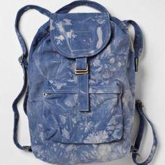 feac448b28 Baggu Blue Tie Dye Backpack Tie Dye Backpacks, Blue Tie Dye, Old Jeans,