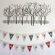 Why buy advent calendars every year when you can just fill this one with different treats, year after year!? Reusable advent bunting - twenty four flags in two rows, each flag has a pocket that you can fill with a small gift or sweet to help with the c... Bunting, Small Gifts, Tapestry, Advent Calendars, Treats, Flags, Sweet, Fill, Christmas